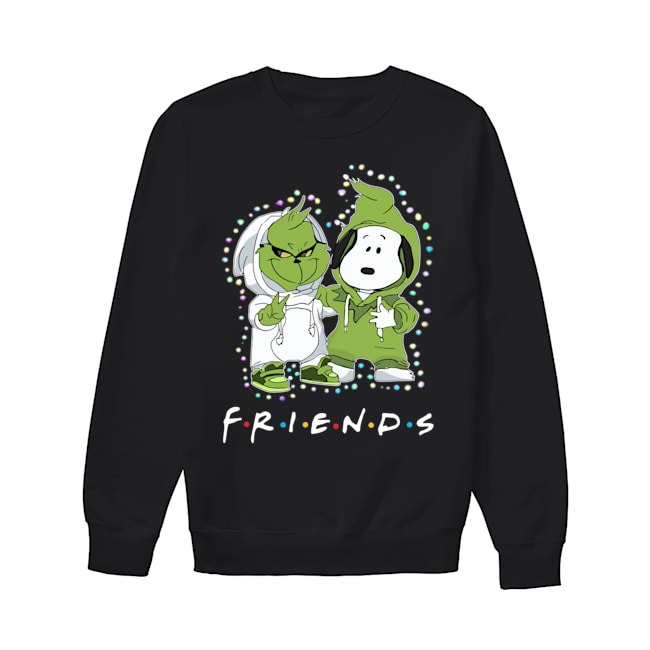 Baby Grinch Snoopy Friends TV Show Christmas Light Sweater