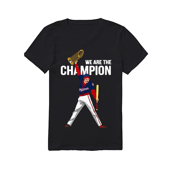 Freddie Mercury Washington Nationals We are the champions V-neck T-shirt