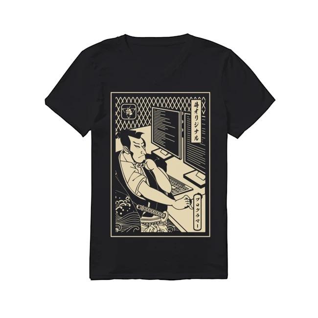 Samurai IT technician V-neck T-shirt