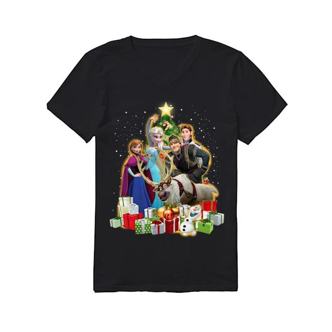 Walt Disney Frozen Merry Christmas V-neck T-shirt
