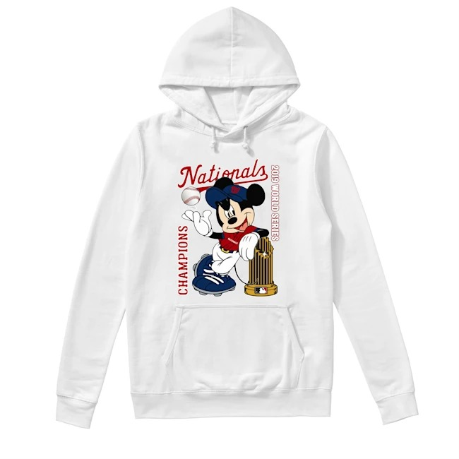 Walt Disney Mickey Mouse Washington Nationals Champions 2019 World Series Hoodie