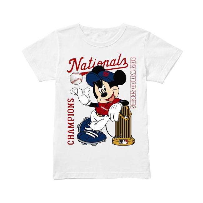 Walt Disney Mickey Mouse Washington Nationals Champions 2019 World Series Ladies Tee