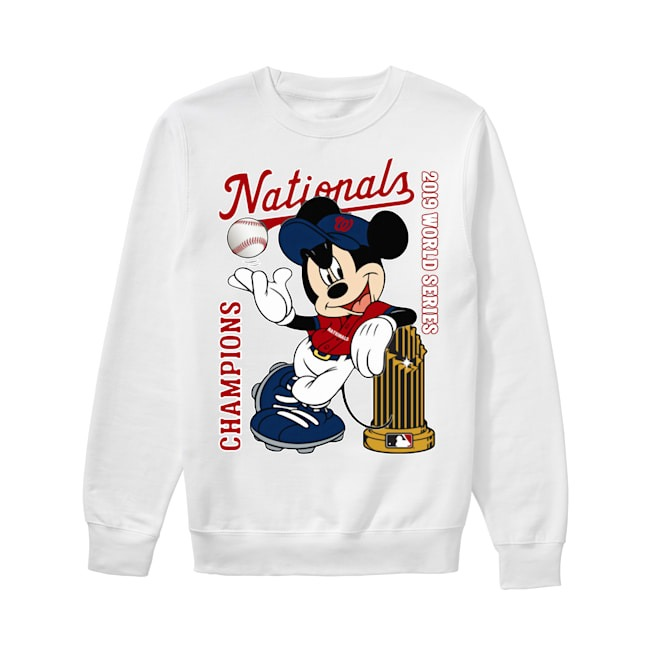 Walt Disney Mickey Mouse Washington Nationals Champions 2019 World Series Sweater
