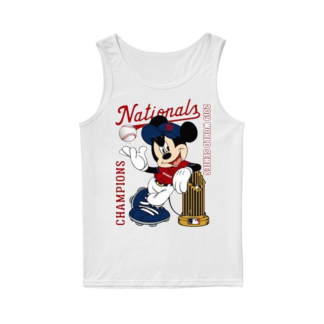 Walt Disney Mickey Mouse Washington Nationals Champions 2019 World Series Tank Top