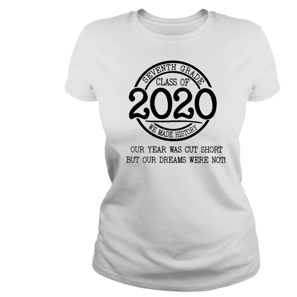 Seventh Grade Class Of 2020 We Made History Shirt, Sweater