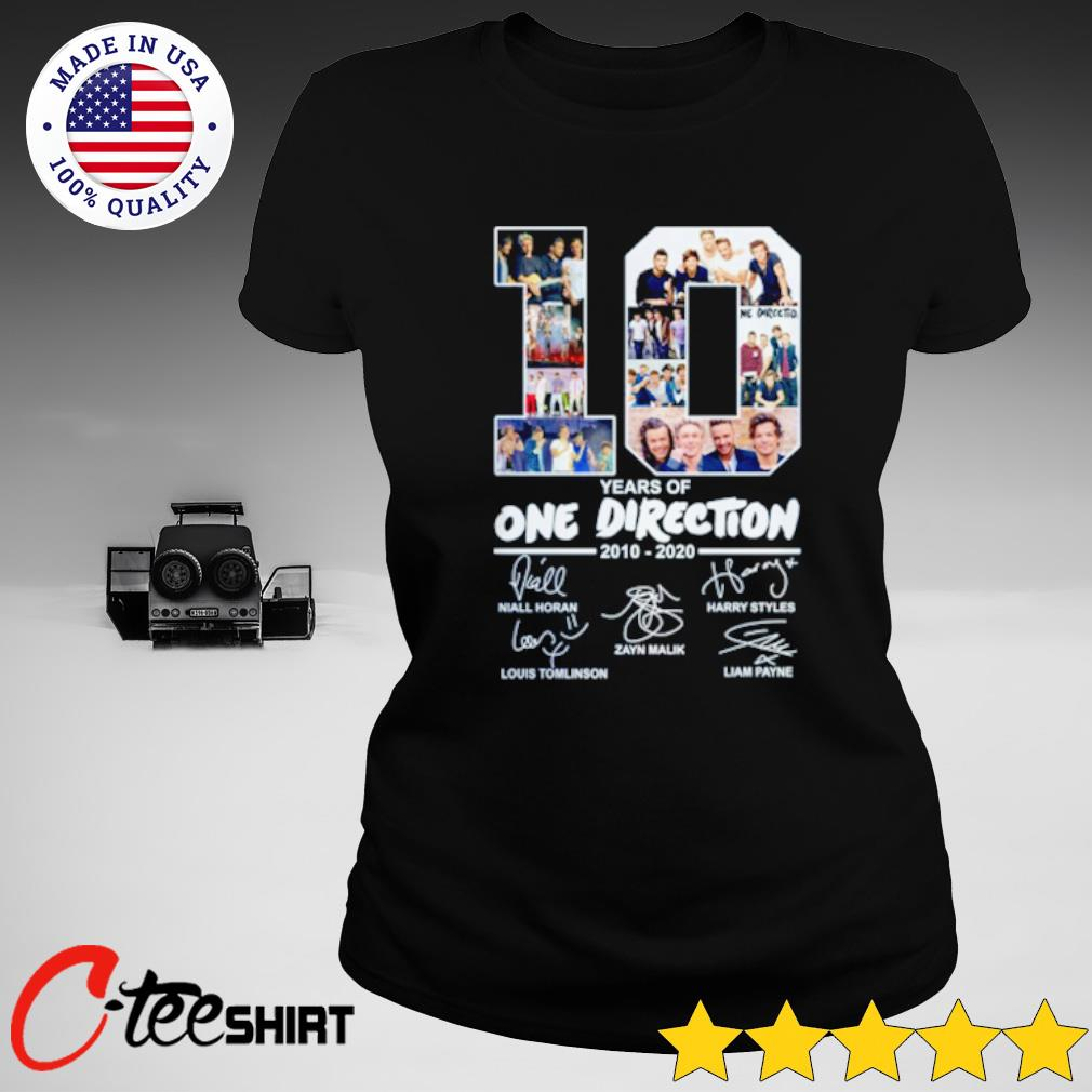 10 Years of One Direction 2010 2020 signatures s ladies-tee