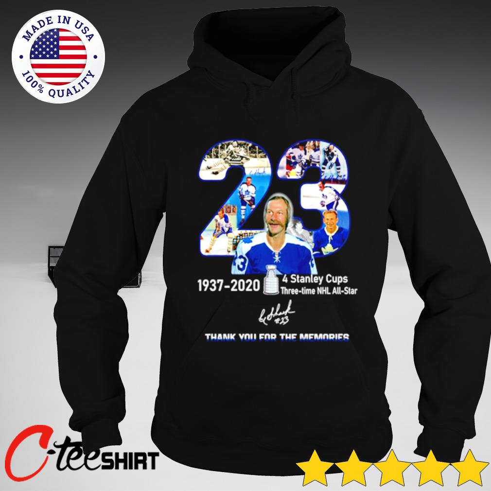 23rd Eddie Shack 1937-2020 signature thank you for the memories T-s hoodie
