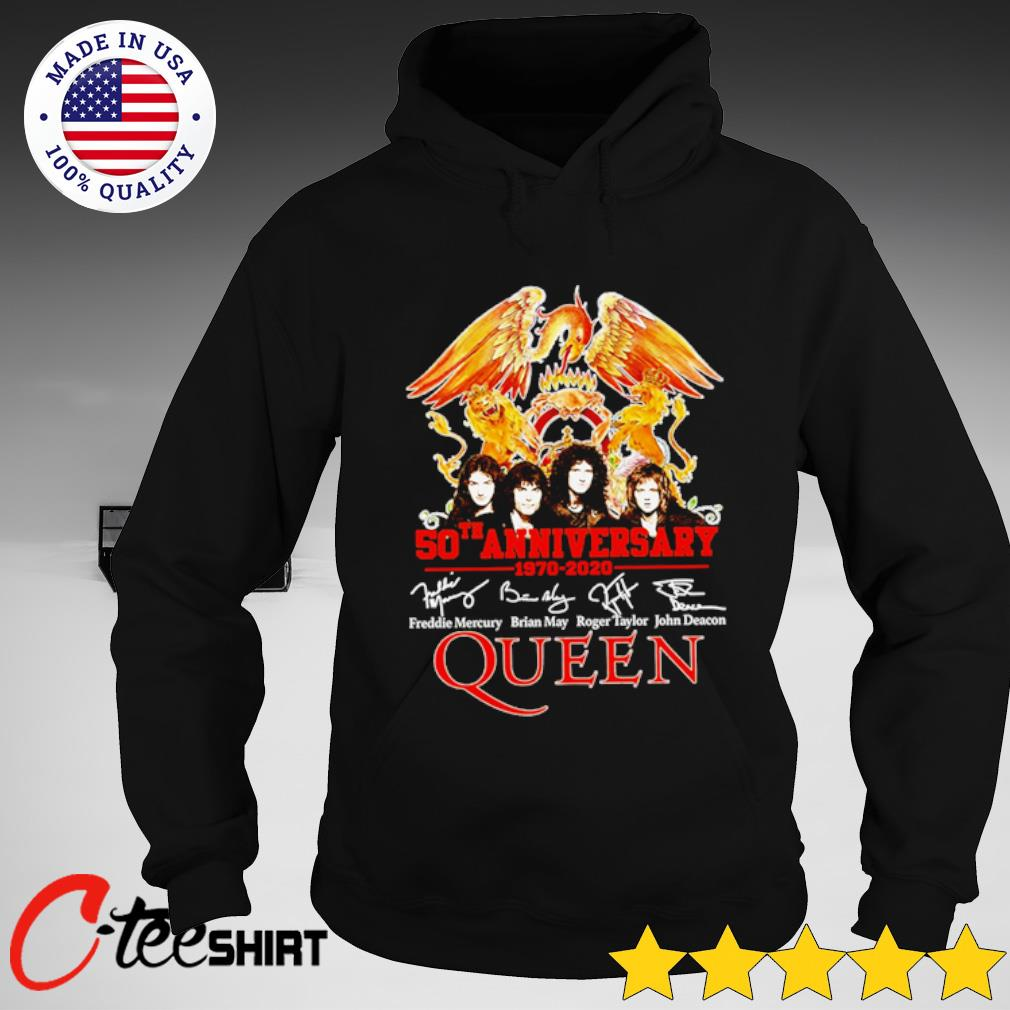 50th Anniversary Queen 1970-2020 signature T-s hoodie