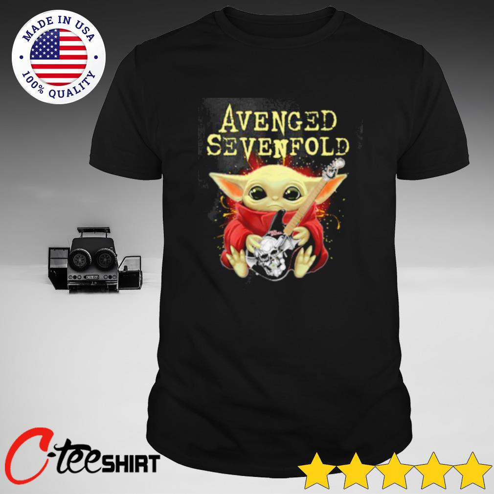 Avenged Sevenfold Baby Yoda hug guitar shirt