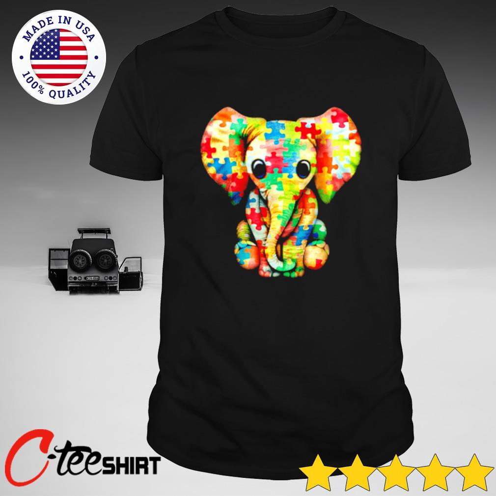 Baby Elephant Autism Awareness T-shirt