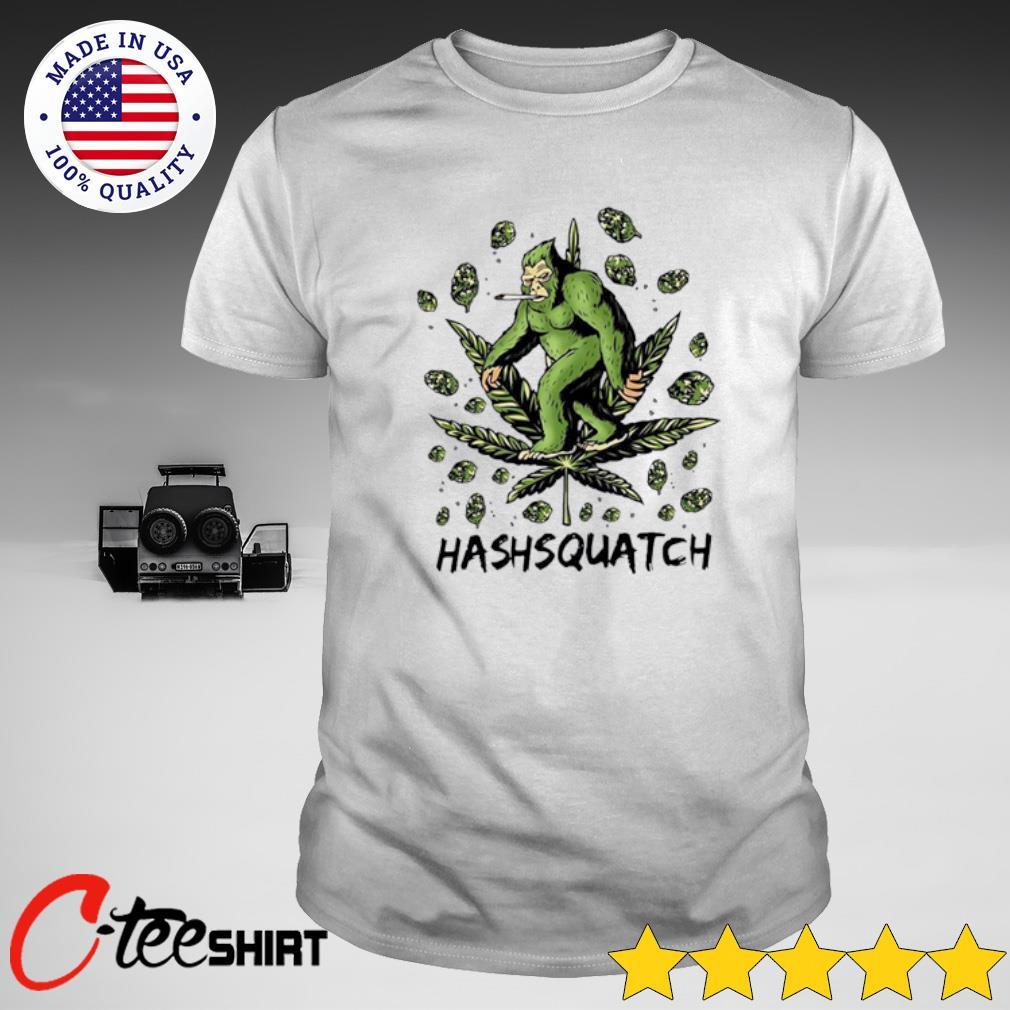 Bigfoot smoking Hashsquatch shirt
