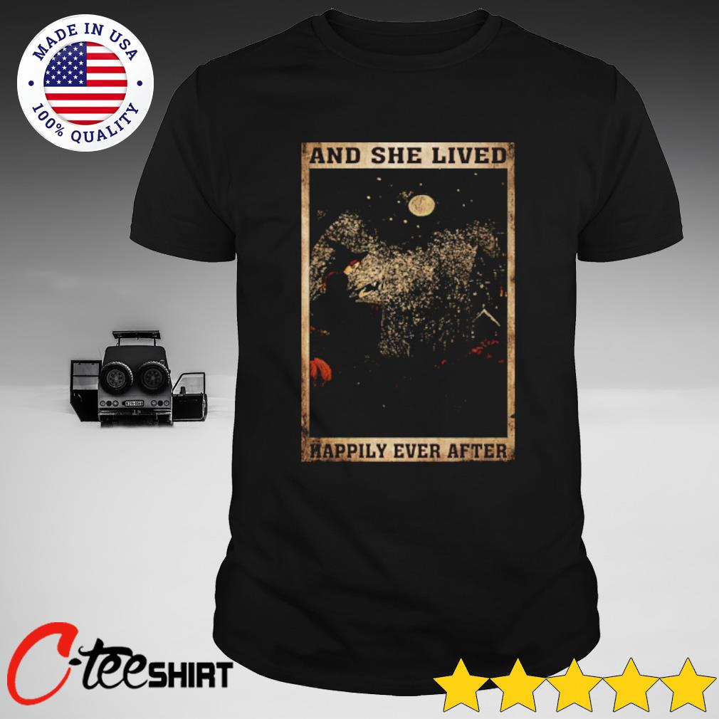 Black Cat and lived happily ever after shirt