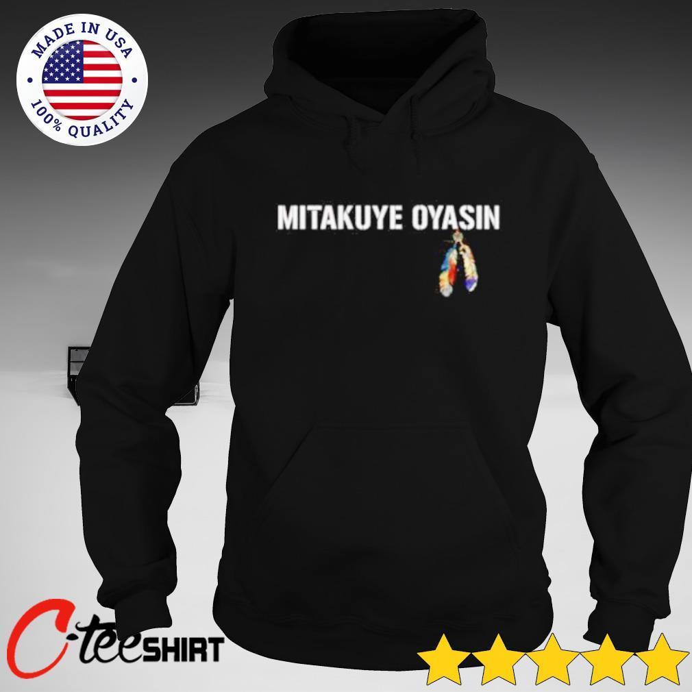 Mitakuye Oyasin feather s hoodie