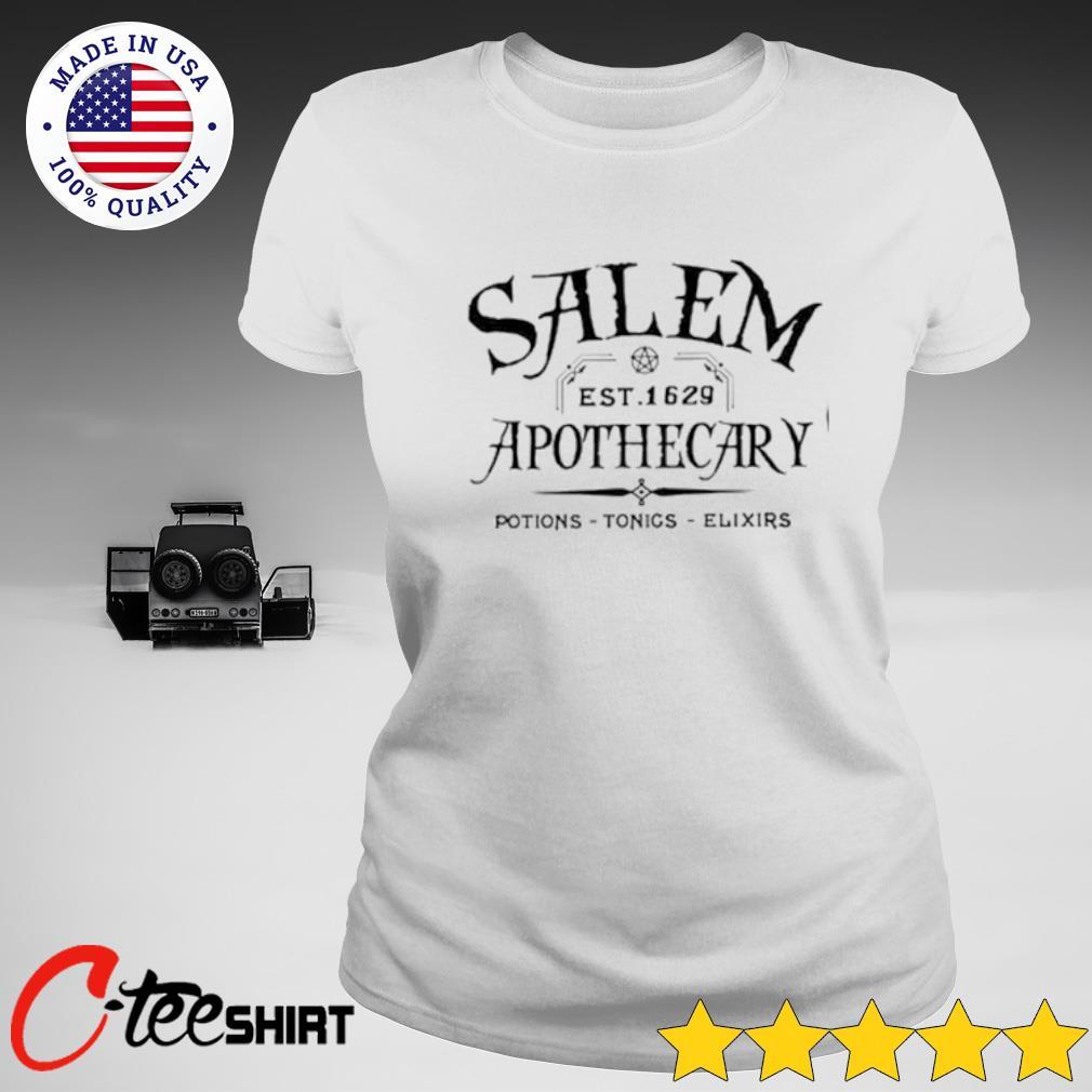 Salem Est 1629 Apothecary Potions Tonics Elixirs Shirt ladies-tee