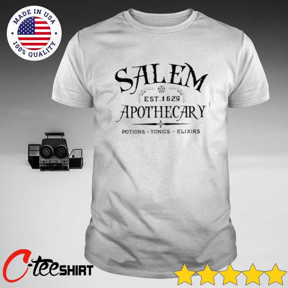 Salem Est 1629 Apothecary Potions Tonics Elixirs Shirt