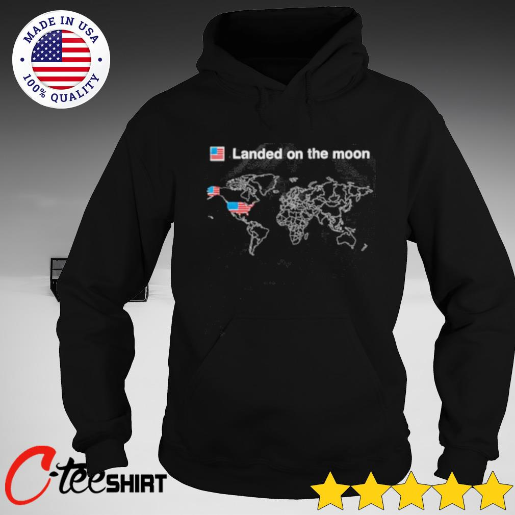 USA Landed on the moon s hoodie