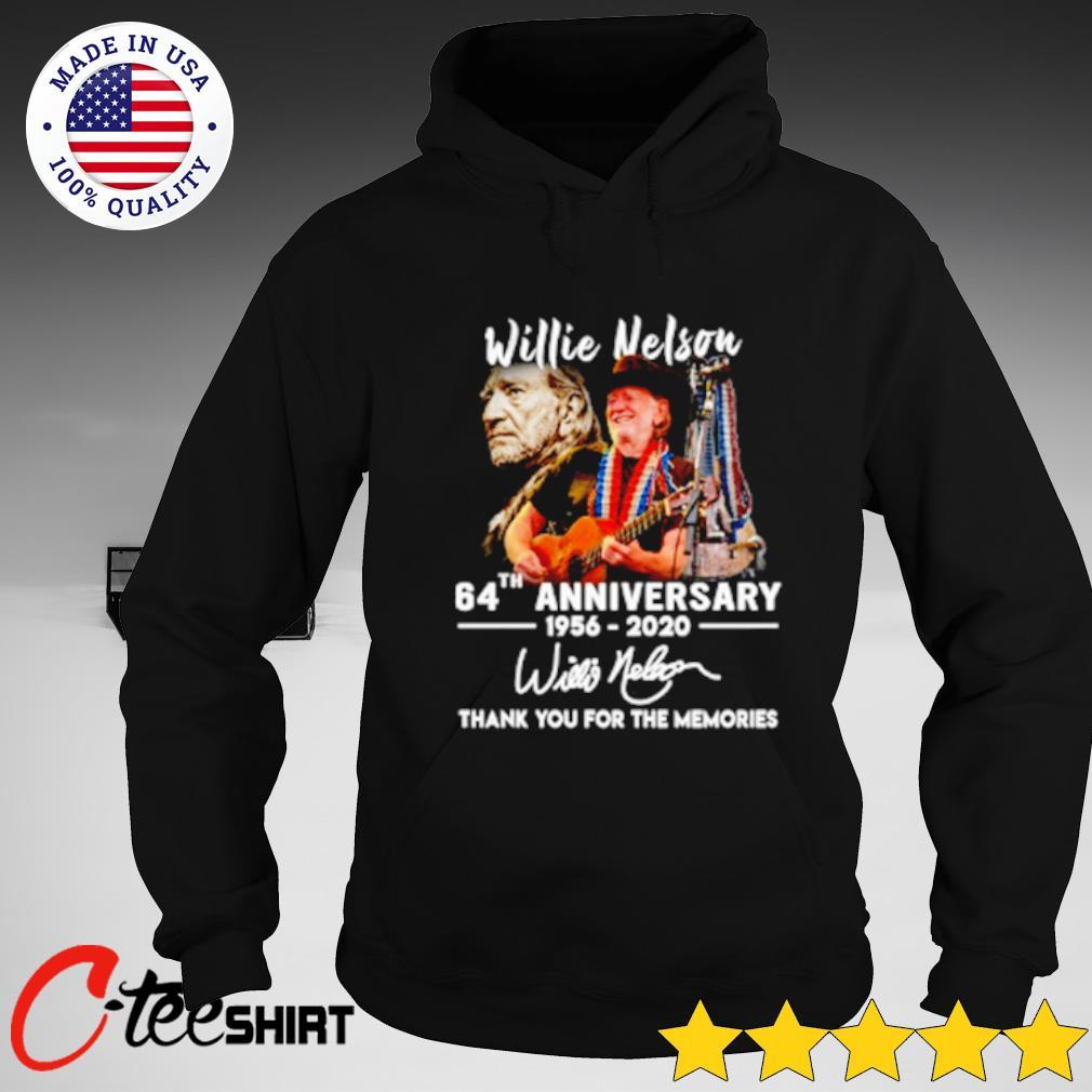 Willie Nelson 64th Anniversary 1956 – 2020 Signature Shirt hoodie