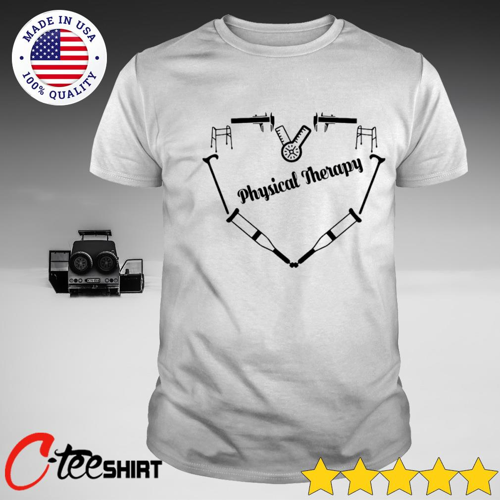 Love Physical Therapy heart T-shirt