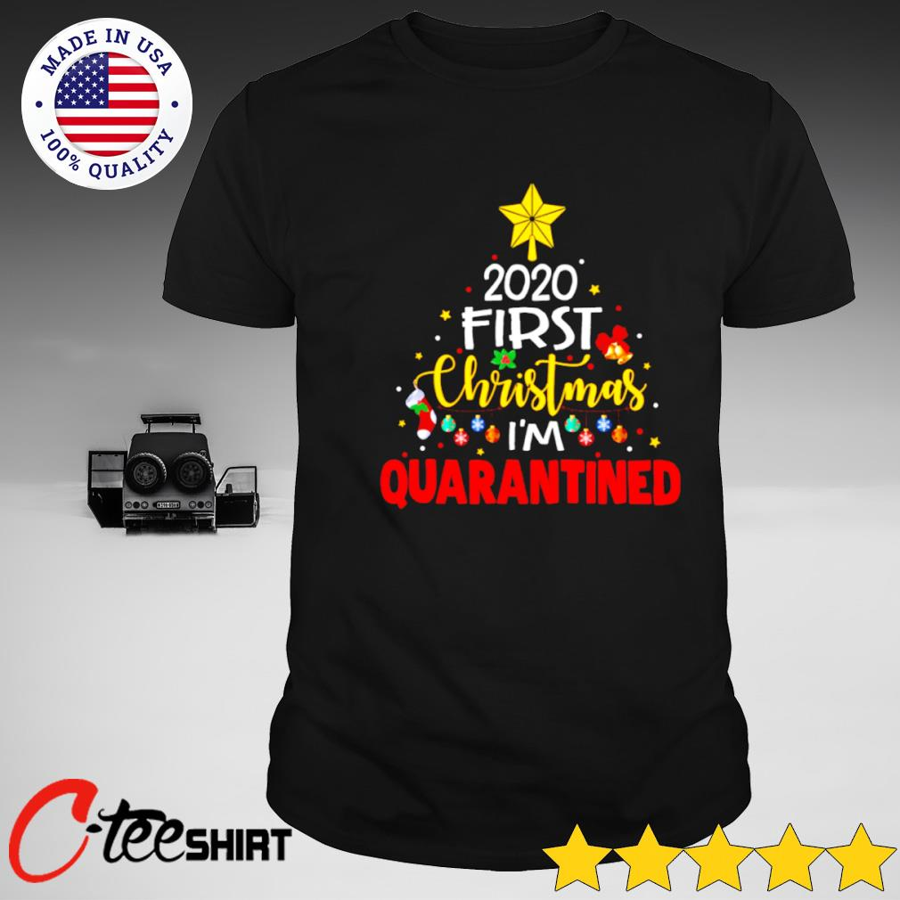 Christmas At M 2020 2020 First Christmas I'm quarantined shirt, hoodie, sweater, long